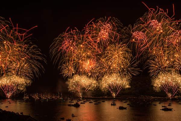 fowey regatta fireworks