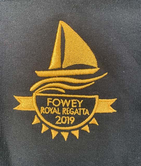Fowey Regatta 2019 hoodie logo